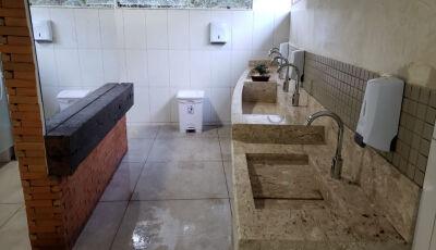 Banheiros do receptivo da Gruta são reformados, ganham novo designer e luxo em Bonito (MS)