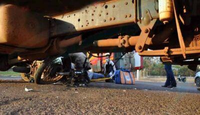 'Anjo da Guarda' salva motoqueiro em grave acidente em Maracaju (MS)