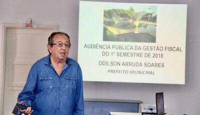 Odilson presta contas dos gastos do 1º Semestre em Audiência Pública em Bonito (MS)