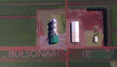 Com tecnologia de R$ 70 mil, produtor usa lavoura para apoiar Bolsonaro em Mato Grosso do Sul