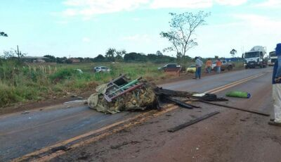 Após acidente, pessoas ignoram vítima fatal e roubam carga de abacaxi em Dourados