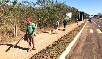 Pista de caminhada no trajeto para o balneário é revitalizada em Bonito (MS)