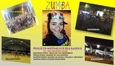 Praça da Marambaia terá aulas de zumba neste sábado em Bonito (MS)
