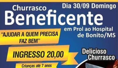 Churrasco beneficente em prol Hospital acontece dia 30 em Bonito (MS)