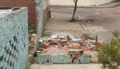 Muro desaba e mata menino de três anos em cidade do MS