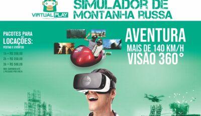 BONITO (MS): Chegou a mais nova sensação do momento à Virtual Play carrinho simulador montanha russa