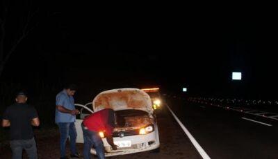 Vereador de cidade do MS sofre acidente na BR-163 próximo ao Distrito de Inhanduí
