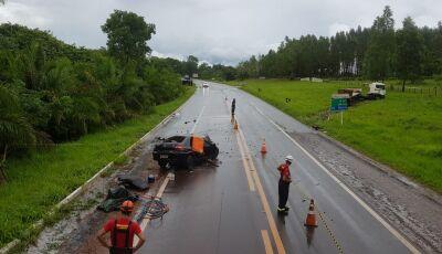 Identificado motorista morto em acidente entre carro e carreta na BR-262 entre Aquidauana e MIRANDA