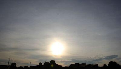 Predomínio de sol e chuva forte em algumas regiões à tarde em MS