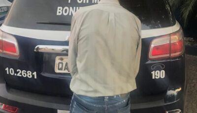 Polícia Militar prende autor por dirigir embriagado no centro da cidade em Bonito (MS)