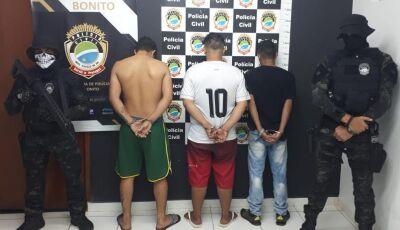 Polícia Civil recupera e prende quadrilha que roubou caminhonete Hillux 2017 em Bonito (MS)