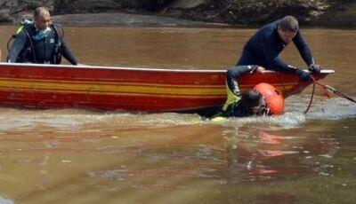 Bombeiros localizam o corpo do homem que sumiu na pescaria em MS