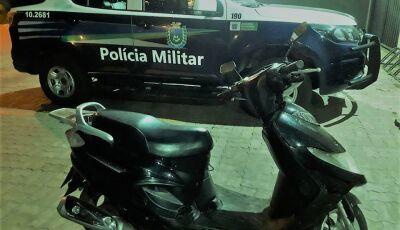 PM recupera bicicleta elétrica roubada e captura moto com placa 'fria' em Bonito (MS)