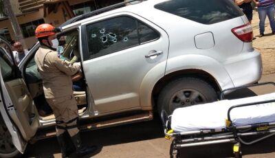 Mulher é executada dentro de veículo em plena luz do dia em MS