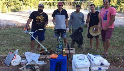 Vereador com apoio da prefeitura e população fazem ação conjunta de limpeza em Bonito (MS)