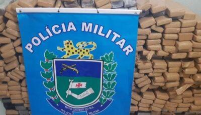 PM apreende mais de meia tonelada de maconha e recupera Civic furtado em Nioaque