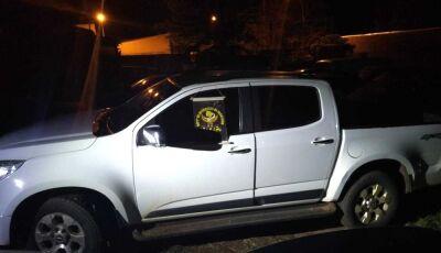 Polícia de MS recupera caminhonete com placa do Paraguai e que foi furtada há quase 3 anos no PR