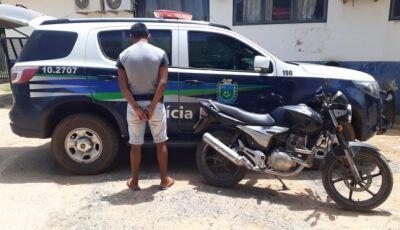 BODOQUENA: Polícia Militar recupera moto furtada