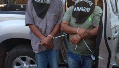 Sequestradores ligados a facção PCC são presos na fronteira com uniformes militares e fuzis
