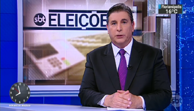 "Carlos Nascimento quebra protocolo no ""SBT Brasil"" ao falar de Bolsonaro"