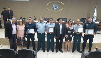 Policiais Militares da 1ª CIPM são homenageados na Câmara de Vereadores de Bonito (MS)