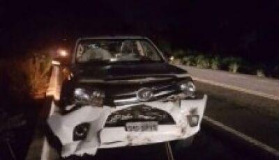 Ex-prefeito de cidade de MS fica ferido em acidente na BR-262