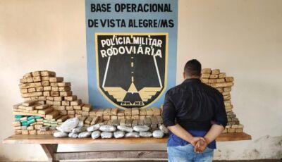 Em Maracaju, Polícia prende e recupera veículo com mais de 400 kg de droga na MS 164