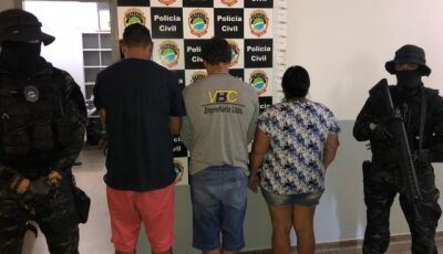 Operação prende mãe e filho que comandavam tráfico de drogas em Jardim