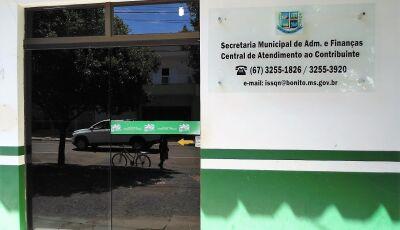 Cota Única ou 1ª parcela do IPTU pode ser paga até segunda em Bonito (MS)