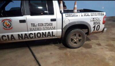 Caminhonete roubada no Brasil estaria sendo usada como viatura em Pedro Juan