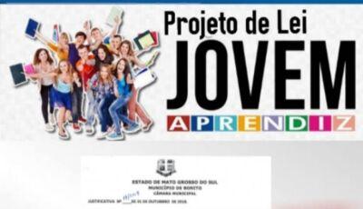 Vereador convida população bonitense para a primeira votação do projeto jovem aprendiz nesta segunda