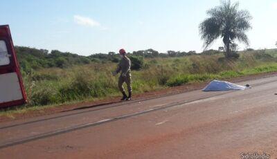 Homem morre depois de se jogar na frente de caminhão entre Sidrolândia a Maracaju