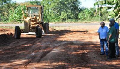 Prefeitura inicia asfalto da Vila Machado que vai beneficiar 8 ruas, total de 14 quadras em Bonito