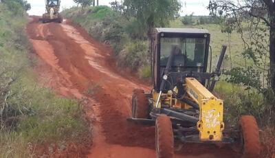 Obras dá continuidade à recuperação de estradas na zona rural em Bonito (MS)