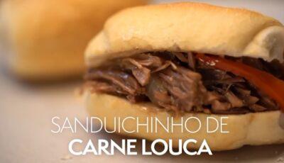Saiba como fazer um 'petisco' delicioso, o sanduichinho de carne louca!!!