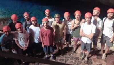 Banda Legião Urbana após um Show em Campo Grande visitam Gruta e Flutuação em Bonito (MS)