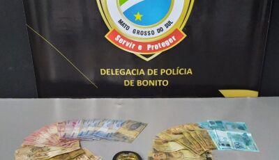 Adolescente que distribuía notas falsas é pego pela Polícia Civil e levado ao Conselho em Bonito MS