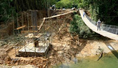BODOQUENA: Estado constrói ponte de concreto no Rio Salobra e beneficia turismo e agronegócio