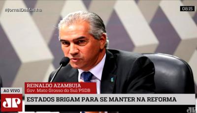 Em entrevista à Jovem Pan, governador defende inclusão de estados e municípios na Reforma da 'Previ'