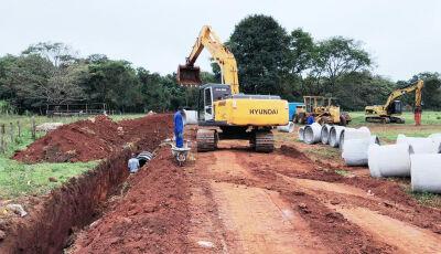 Em Bonito (MS), Rede de drenagem da Vila Machado utilizará 1.048 metros de tubos