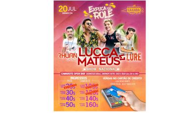 Estação Caxara: Show de Lucca e Mateus em Bonito