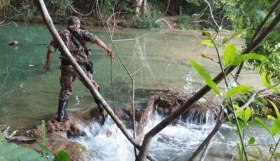 Após denúncia PMA investiga desvios irregulares no rio Mimoso em Bonito (MS)