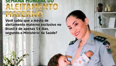 BONITO: Polícia Militar lança campanha para promover e incentivar a amamentação
