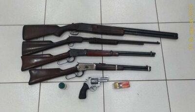 Polícia encontra armas na casa de empresário suspeito de violência doméstica