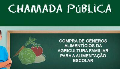 Escola Falcão abre chamada pública para compra de alimentos da agricultura familiar em Bonito (MS)