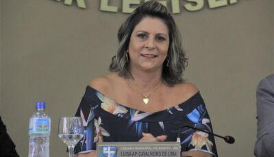 Luisa pede construção de sanitários e vestiário na garagem e caminhão basculante para Bonito
