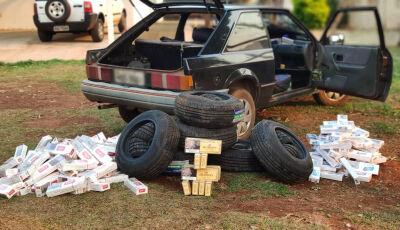 Veículo com cigarros e pneus contrabandeados do PY é apreendido pelo DOF em Maracaju