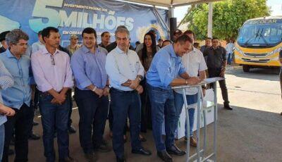 Governo e Sanesul assinam autorização de obras durante aniversário de Figueirão