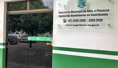 Moradores podem parcelar pagamentos de IPTU e ISS atrasados em Bonito (MS)