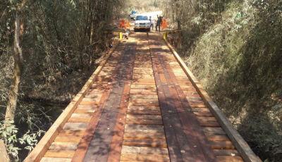 Com recursos próprios, Prefeitura conclui a reforma da Ponte do Matheus em Bonito (MS)